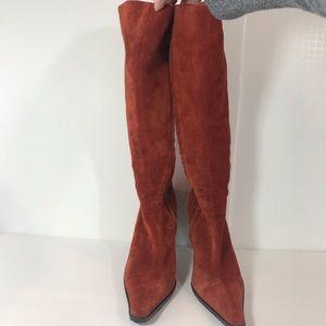 Vicini Rust/Orange Suede Boots